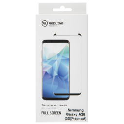 RED LINE для Samsung Galaxy A20 Full screen tempered glass FULL GLUE черный защитное стекло